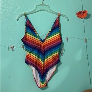 Forever 21 rainbow one piece bathing suit